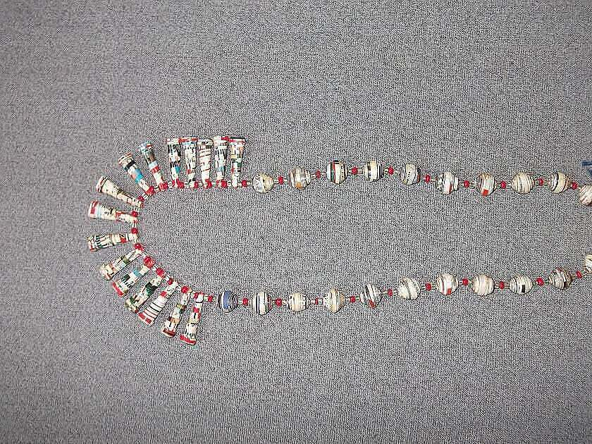 Pendant-style rolled paper necklace