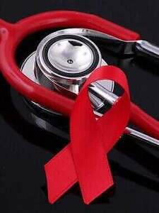 Stethoscope and HIV/AIDS Ribbon