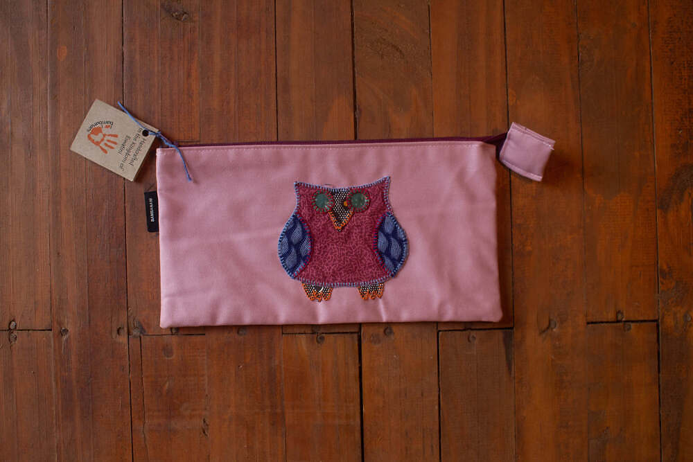 Pink small bag with owl
