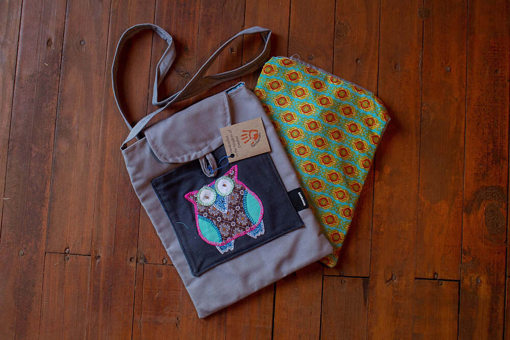 Two different bags: one with owl